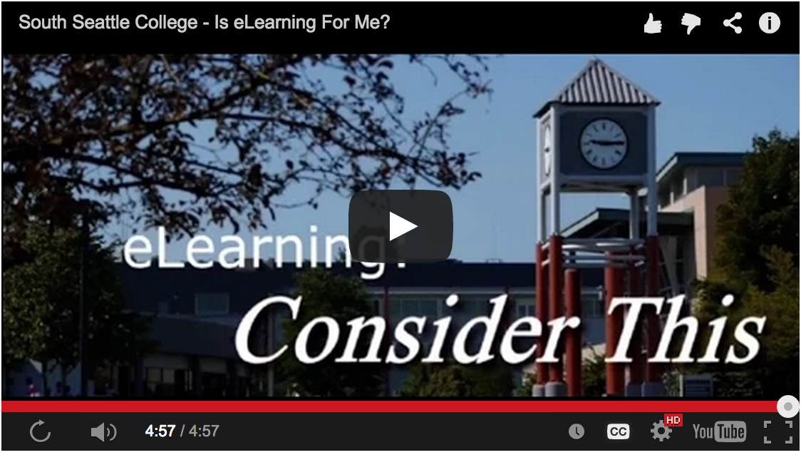 South Seattle College - Is eLearning For Me? (video)