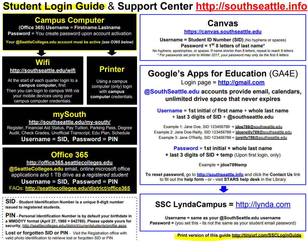 Student Login Guide and Support Center